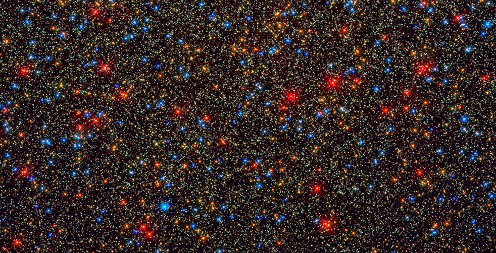 An image taken by the refurbished Hubble Space Telescope shows the 982x502