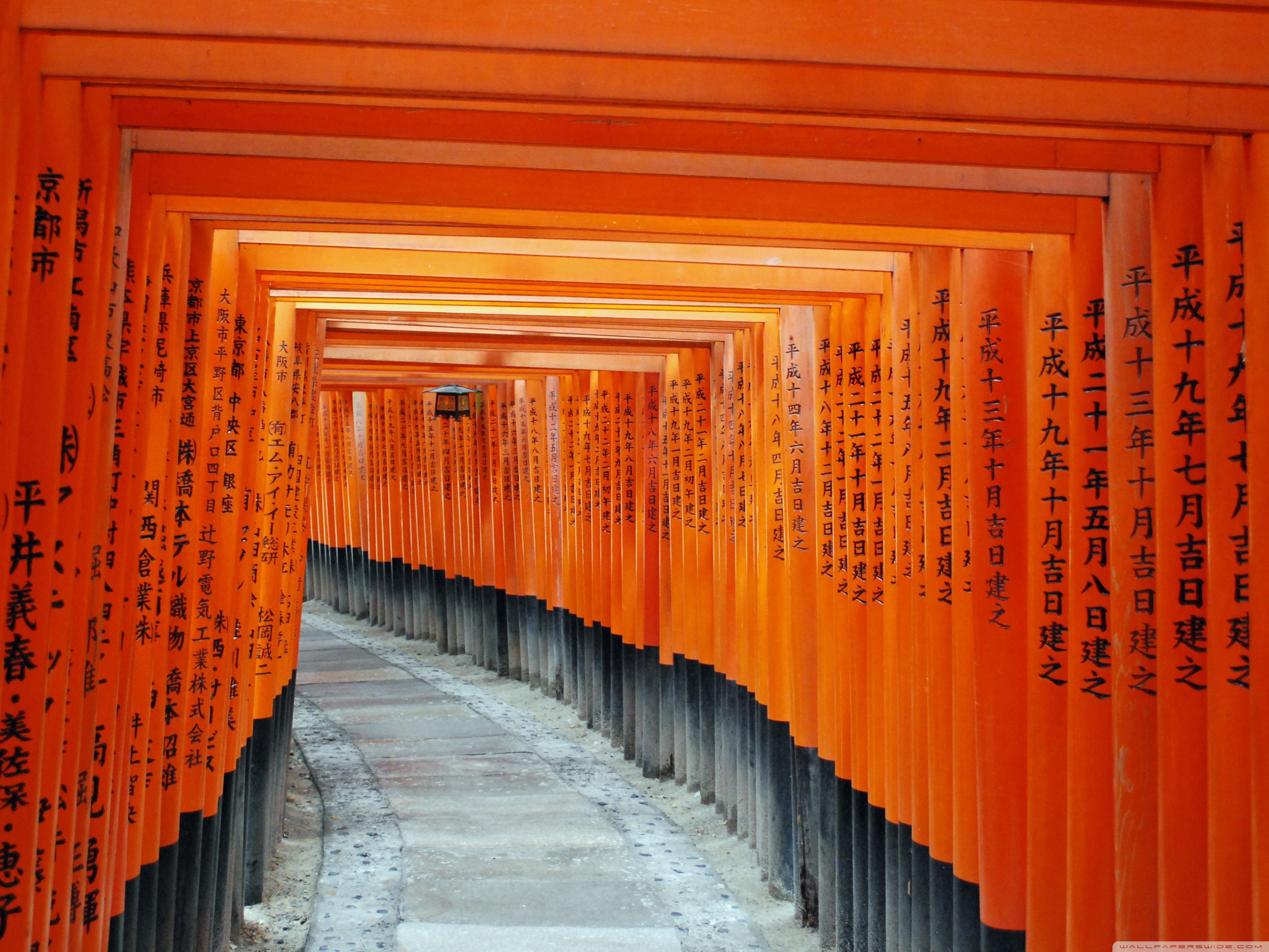 Fushimi Inari Taisha Kyoto Japan 4K HD Desktop Wallpaper for 3200x2400