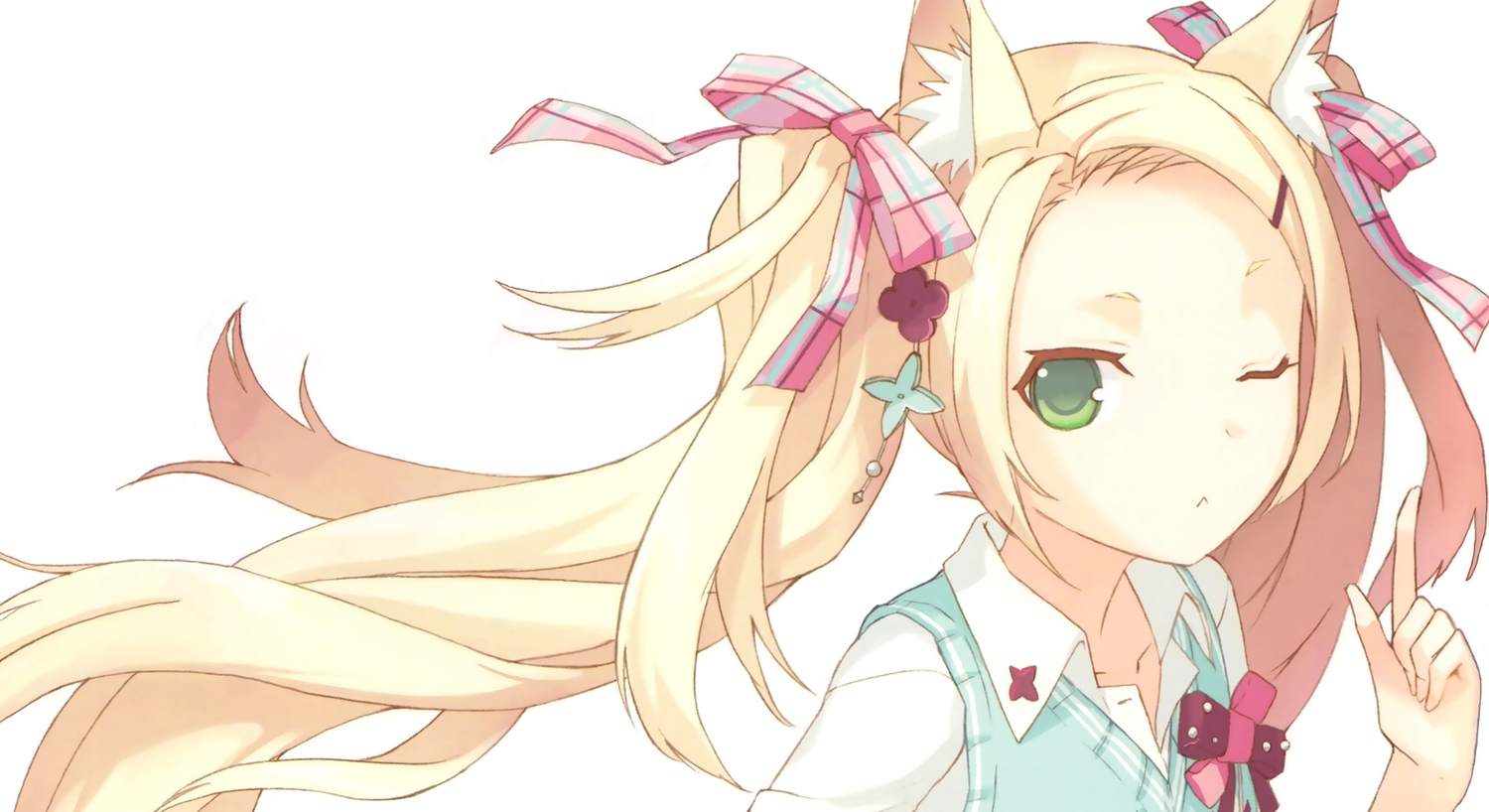 Download Blonde Neko Wallpaper Background 9494 1500x818