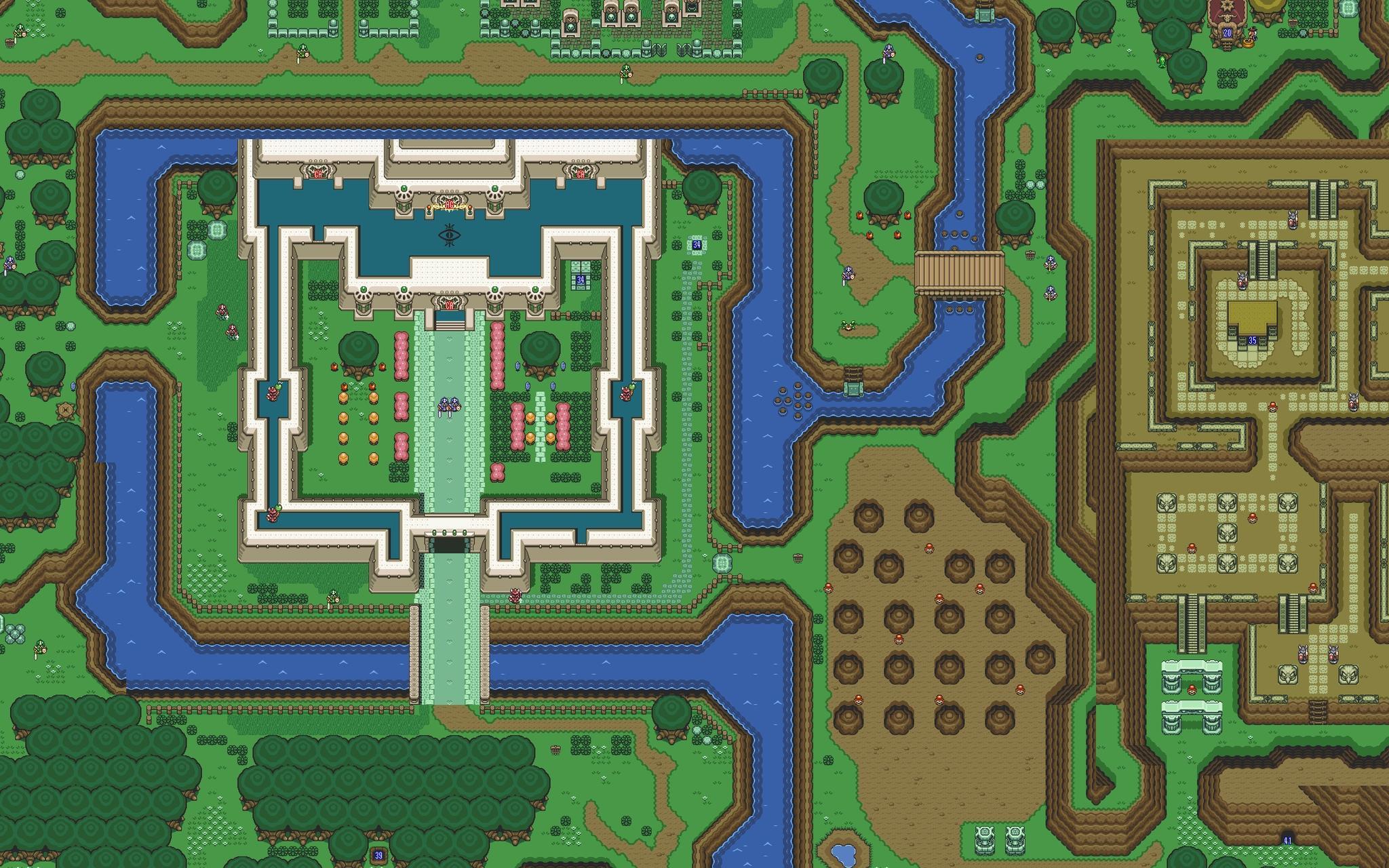 The legend of zelda maps pixelart wallpaper 2048x1280 18328 2048x1280