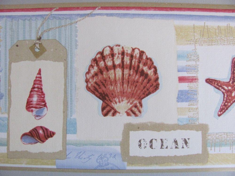 Sea Shore Star Fish Beach Comber Ocean Theme Wall Paper Border eBay 1000x750