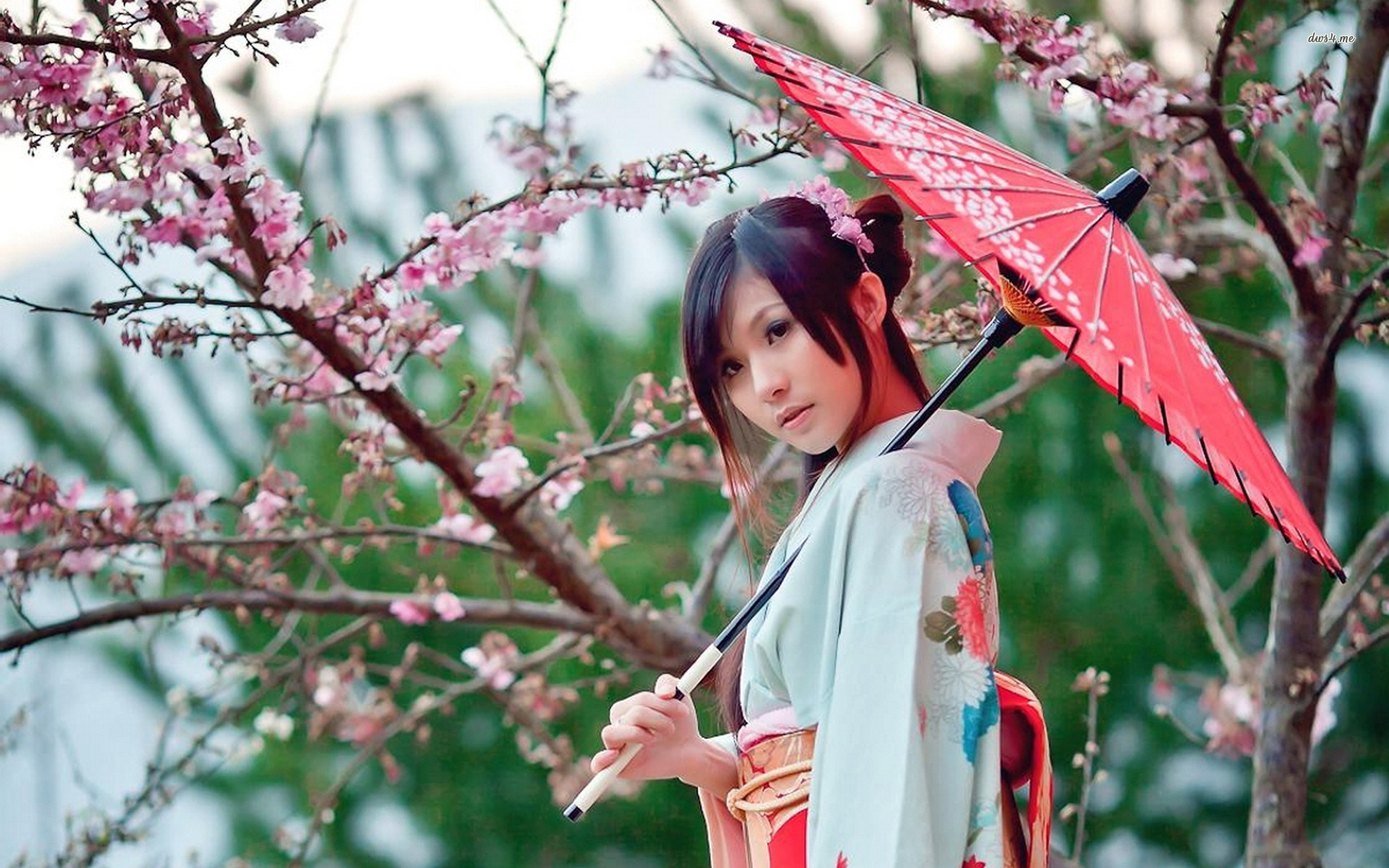 Japanese wallpaper japanese girl holding japapese umbrella 1920x1200