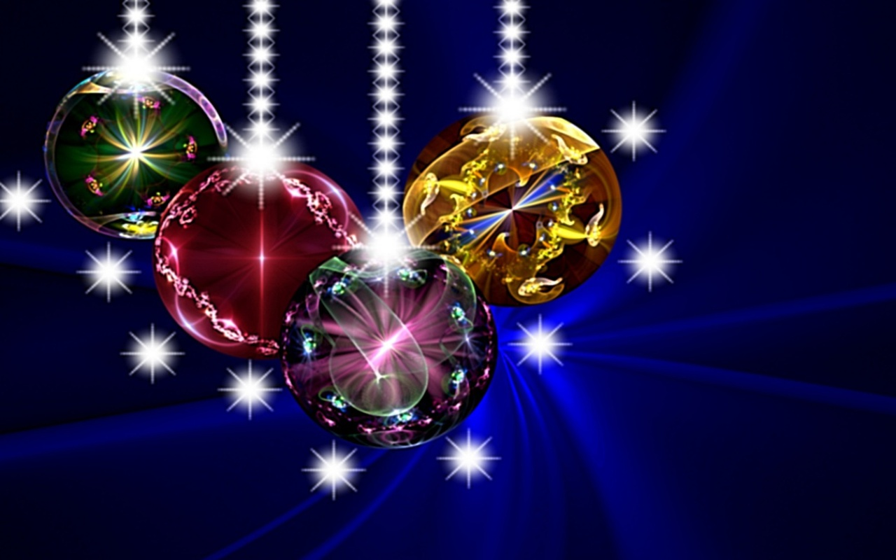 Christmas Blue Wallpapers and Screensavers For Mac 1280x800
