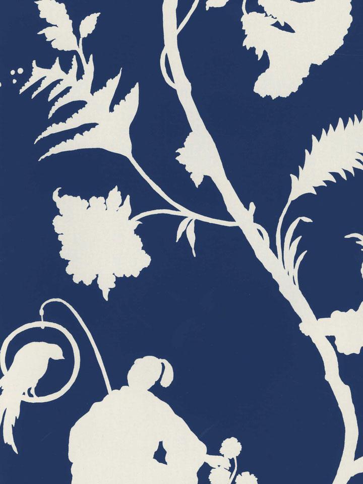 REALLY love this chinoiserie navy print wallpaper but its sooooo 720x960