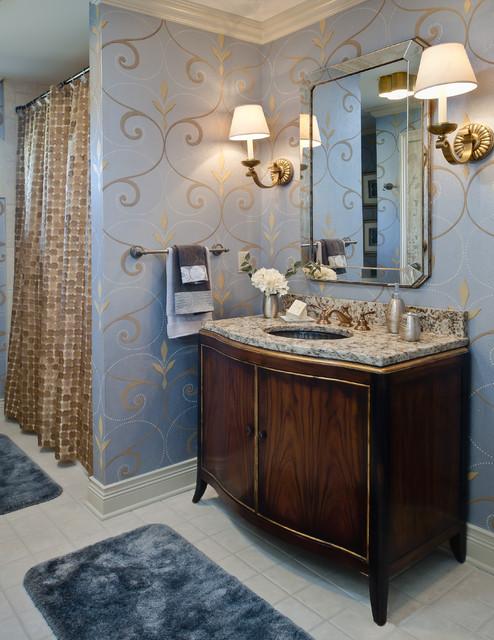 wallpaper wall trends wallpaper trends blue walls bathrooms 2015 494x640