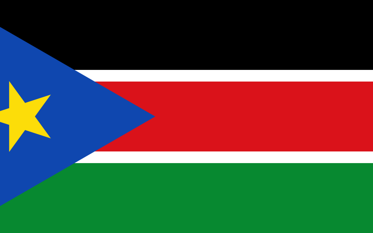 South Sudan Country Flag Wallpaper PaperPull 1280x800