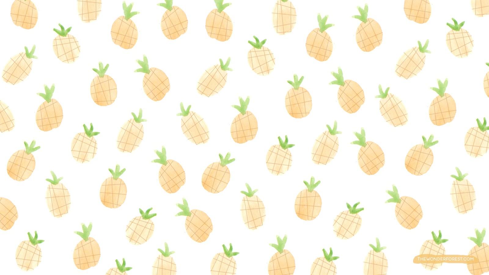 48 Cute Pineapple Wallpaper On Wallpapersafari