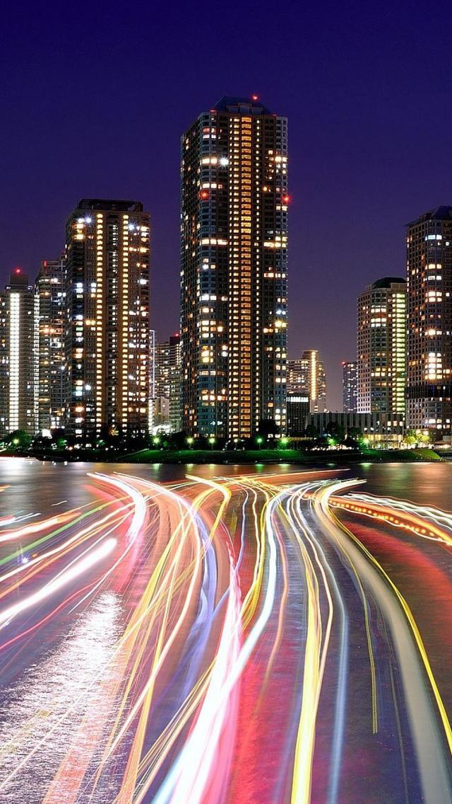 City Lights Iphone Wallpaper Wallpapersafari