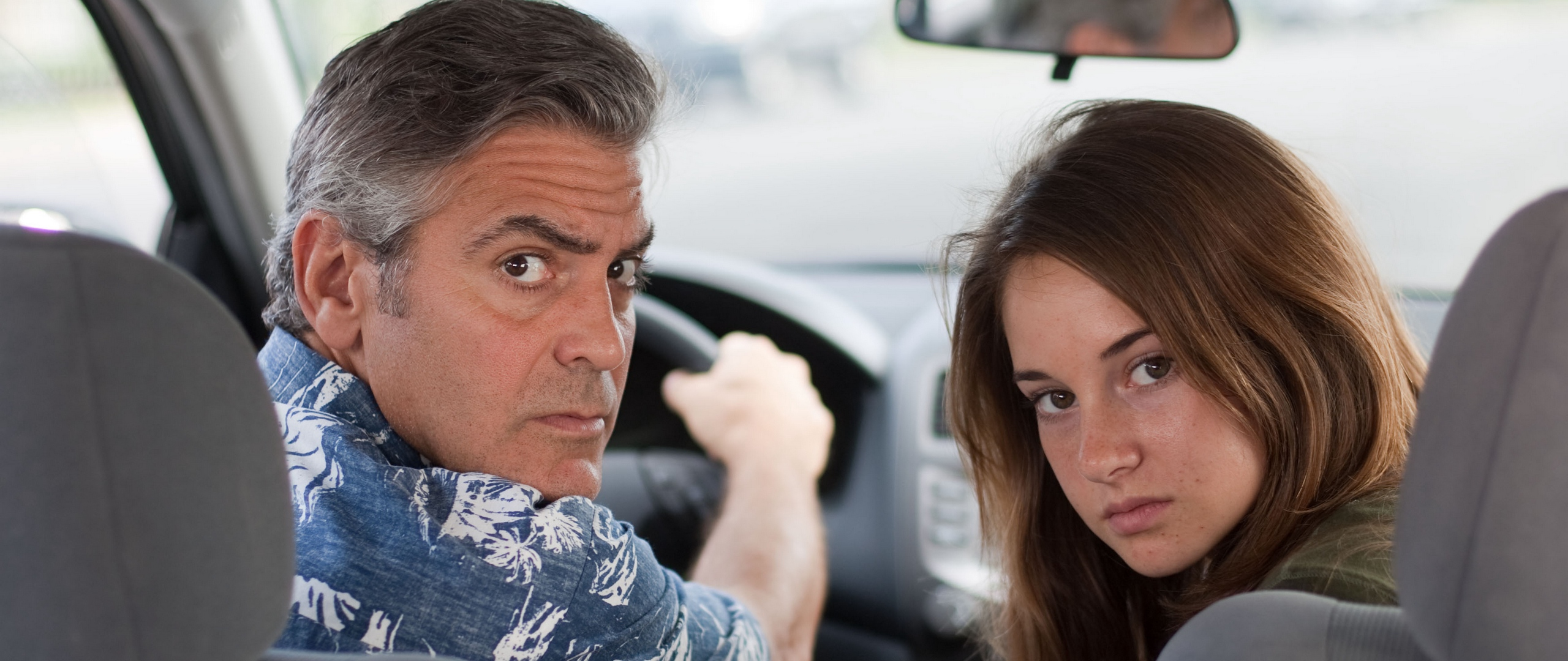 Download wallpaper 2560x1080 the descendants george clooney 2560x1080