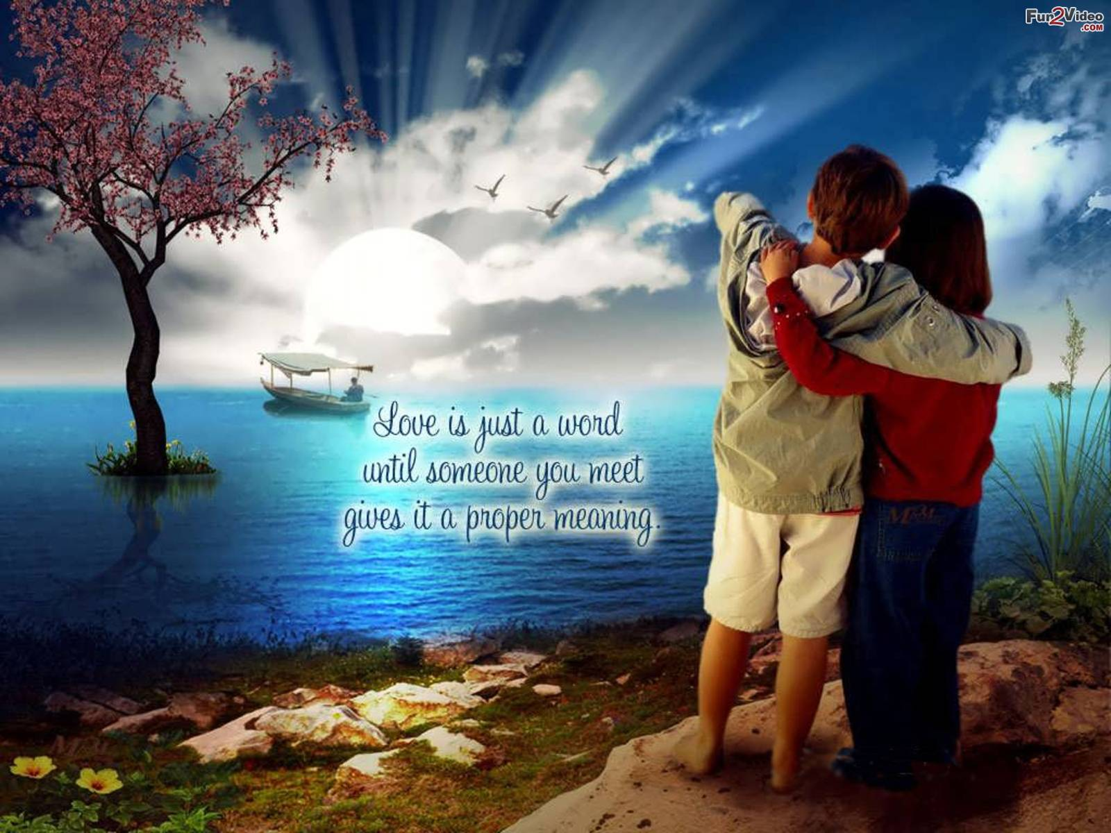 Love Wallpaper Of Romantic Love Couple With Love Quotes To Show Love 1600x1200