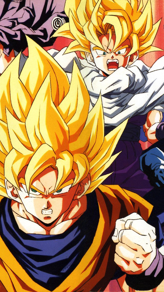 FREEIOS7 dragonball z goku fire   parallax HD iPhone iPad wallpaper 640x1136