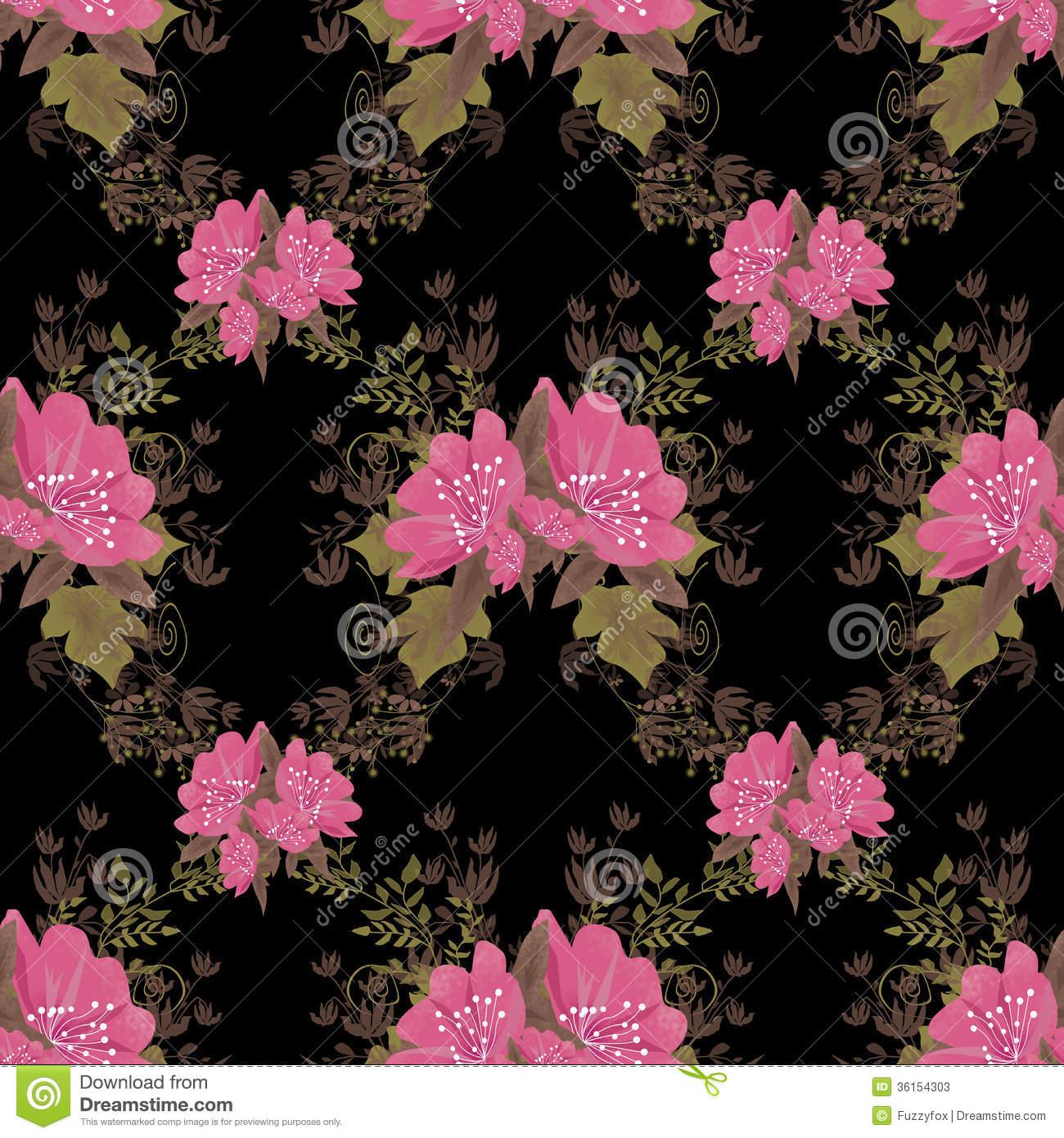Black And Pink Flower Wallpaper Wallpapersafari