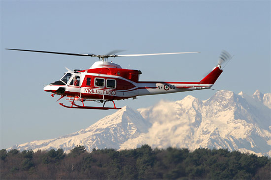 The 412 helicopter is manufactured by Bell Helicopters and also by 550x367
