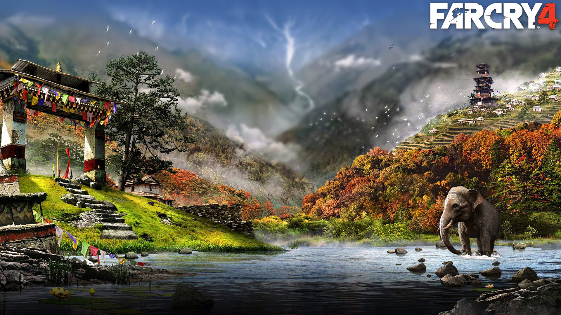 Free Download Far Cry 4 Game Landscape Hd Wallpaper 1920x1080