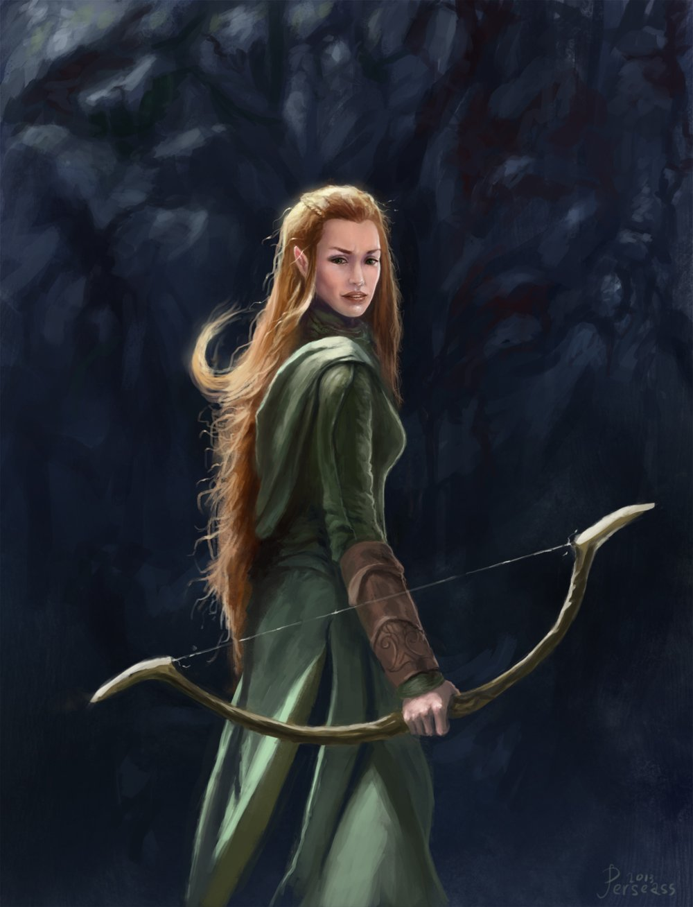 tauriel by Perseass 1000x1308