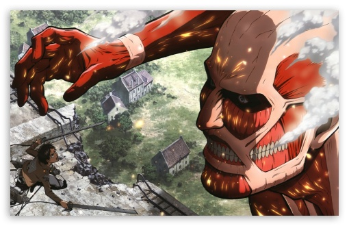 48 Attack On Titan Wallpaper 1366x768 On Wallpapersafari