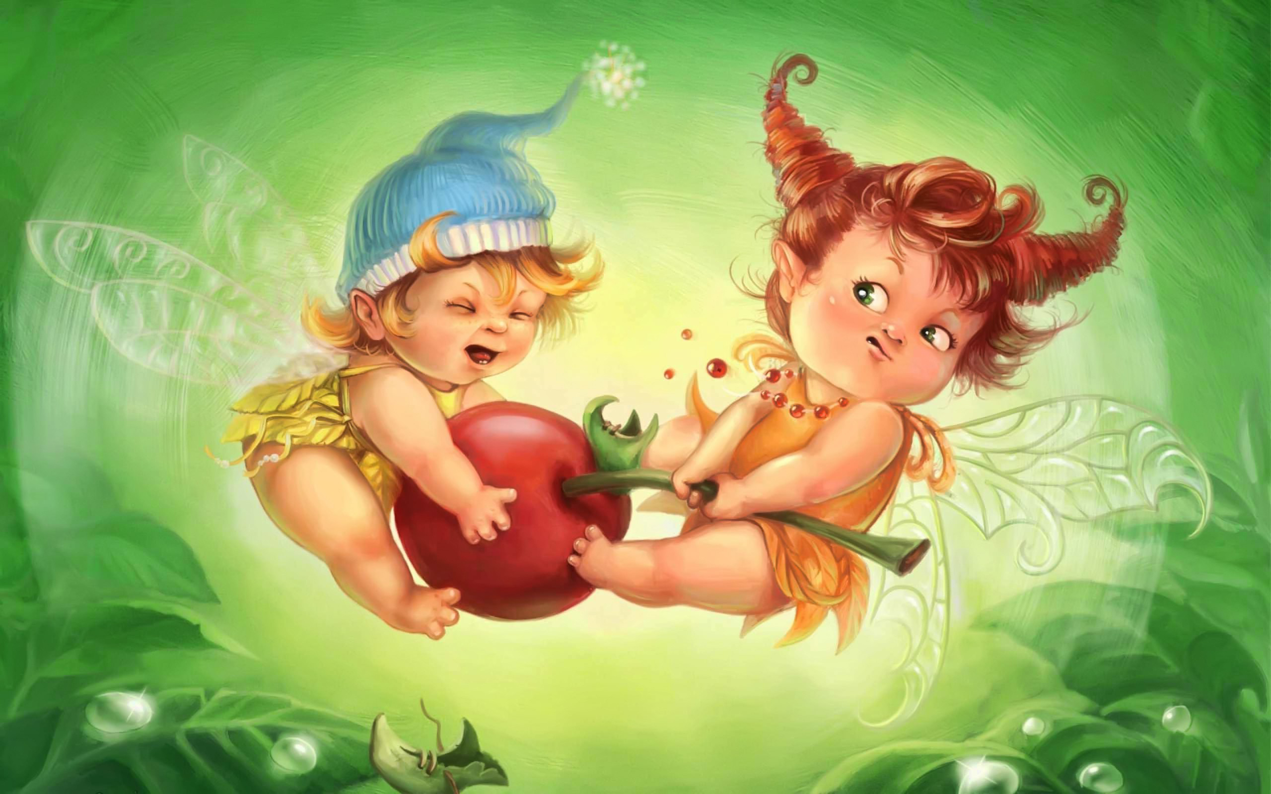 Description Download Cute baby angels Wallpaper in 2560x1600 2560x1600