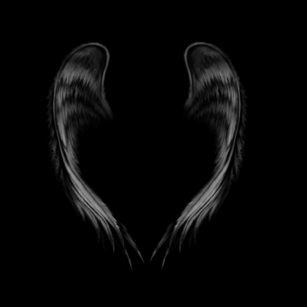 Black Angel Wings Design Angel Background Wallpapers Angel 1024x1024