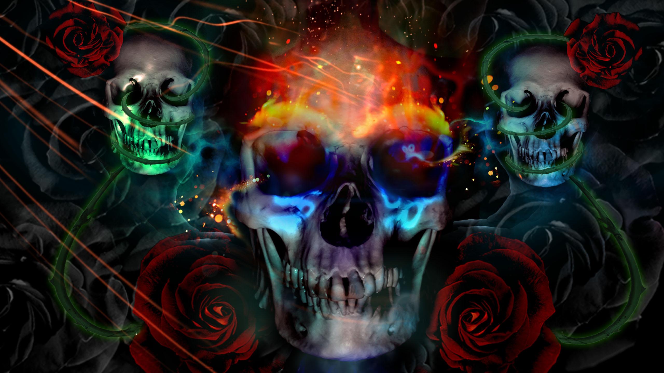 skulls desktop background wallpaper skulls desktop background hd 2560x1440
