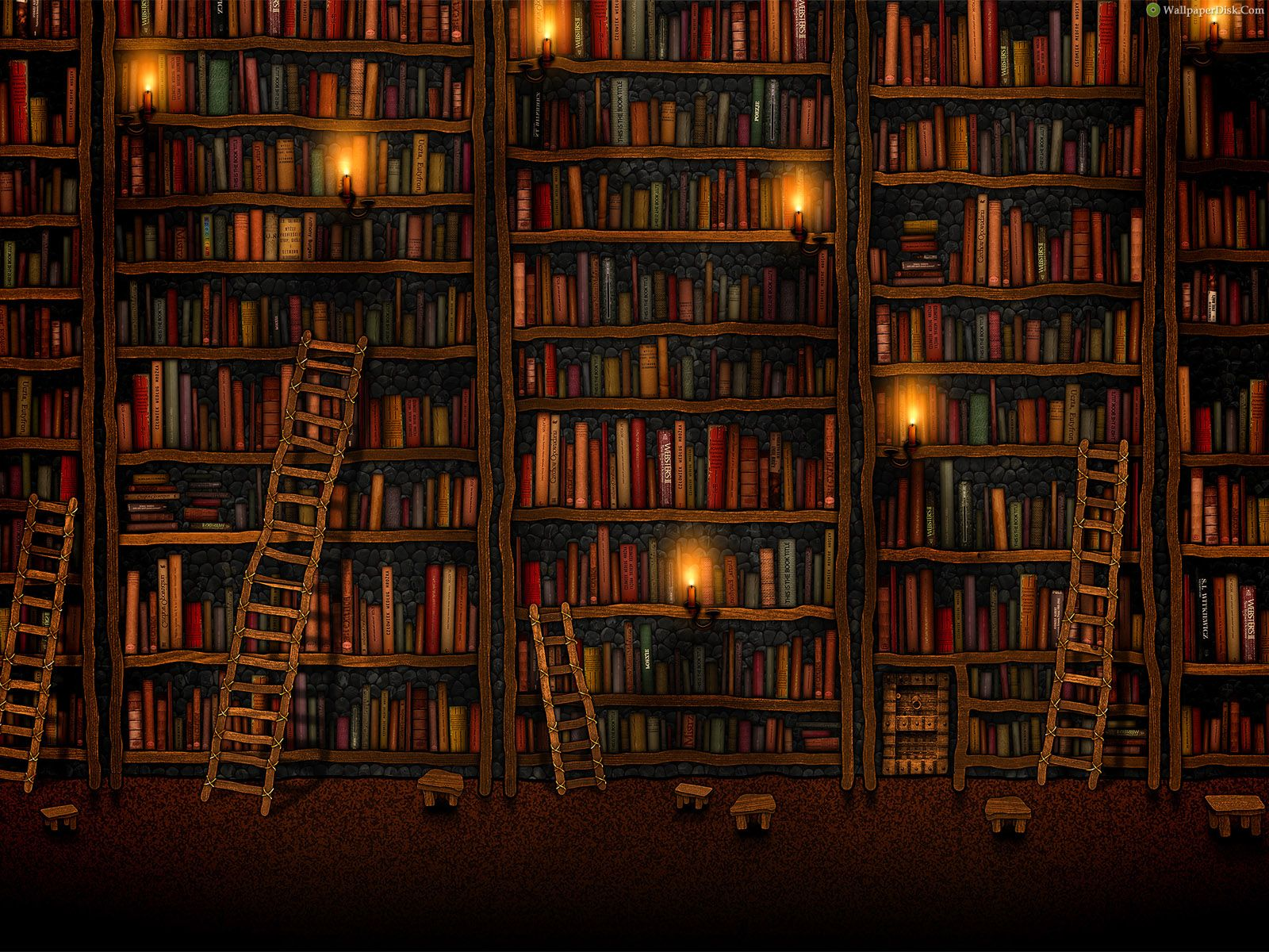 Best book library desktop wallpapers background collection 1600x1200