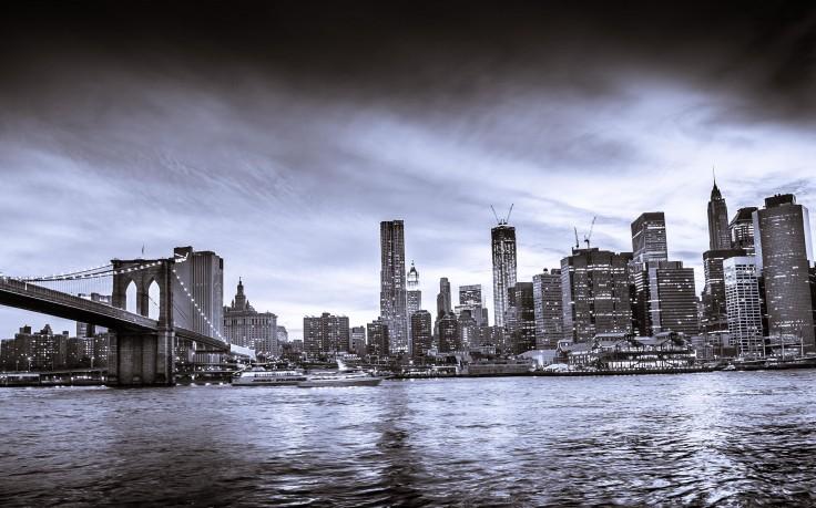 New York City Skyline Black And White HD Wallpaper Desktop Background 736x459