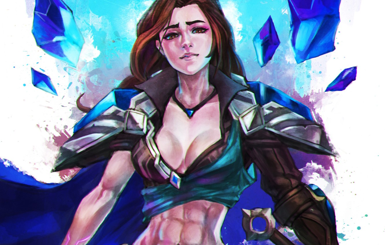 Wallpaper girl art League of Legends taric moba images for 1332x850