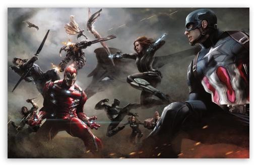 Captain America Civil War Artwork HD desktop wallpaper Widescreen 510x330