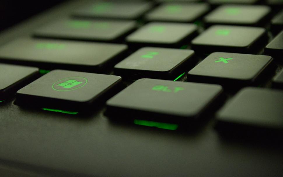 Typing technology computer keyboard green pc wallpaper 970x606