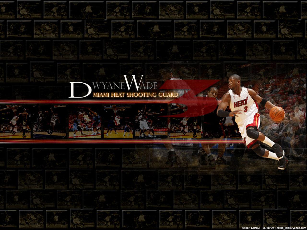 Dwyane Wade Miami Heat Top Shooting Guard the Flash Man NBA 1280x960
