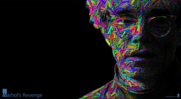 typographic portrai Colorful Wallpapers Desktop Wallpapers 600x328