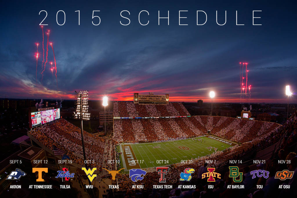 Revealed 2015 Football Schedule   Oklahoma Sooners 1024x682