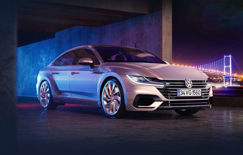 Wallpaper rendering Auto Volkswagen Machine Silver R Line 1332x850