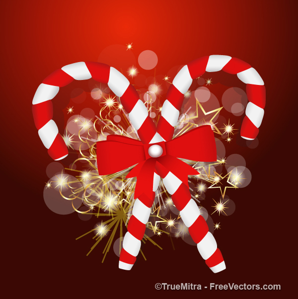 Download Christmas Candy Cane Background Vector Illustration 600x602