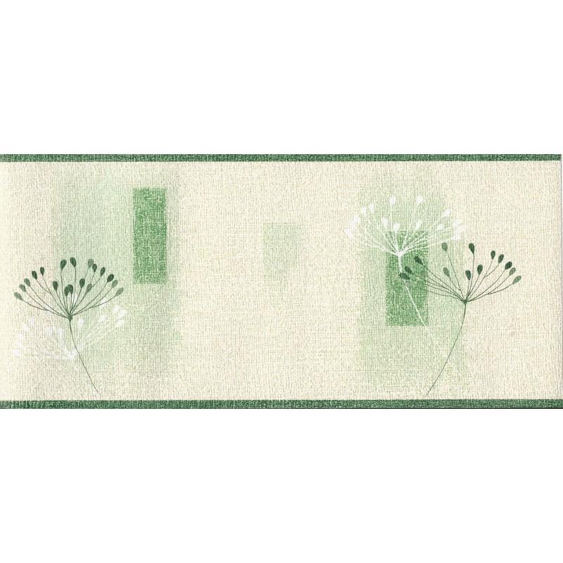 Home Borders Textured Dandelion Textured Cream Green Border 800x800