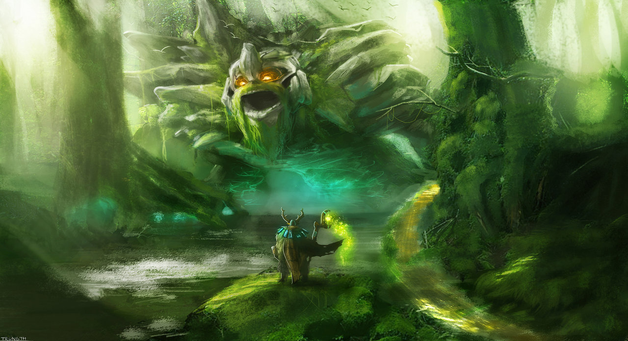 Natures Prophet and Tiny by ningyee7 on deviantART DotA2 1280x696