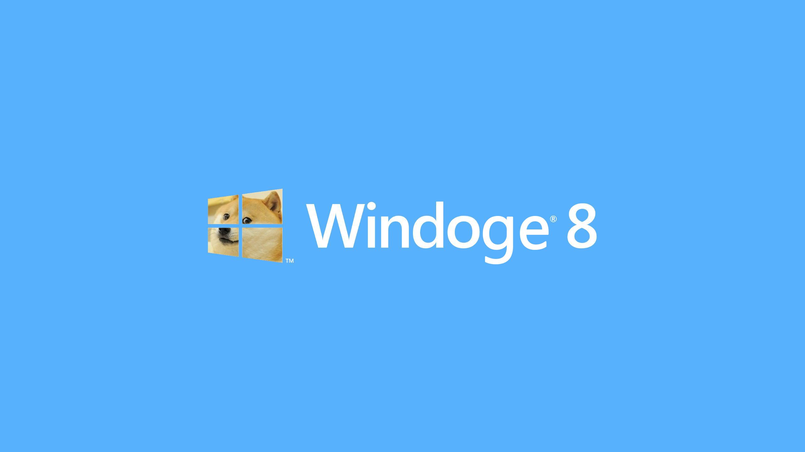 Windoge 8 DOGE Meme Wallpaper 2560x1440