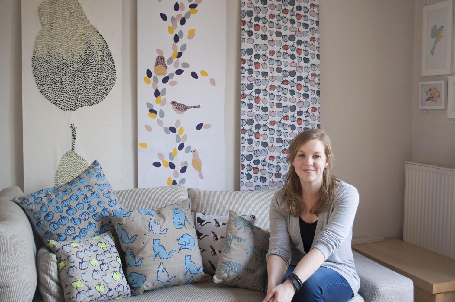BA Hons Textiles graduate winner of the Homebase Wallpaper Design 1506x1000