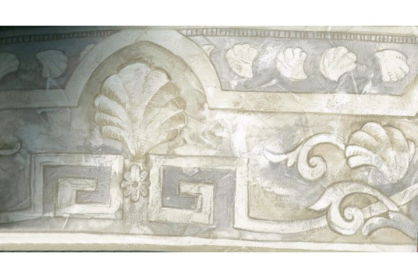 Home White Shell Design Wallpaper Border 600x400