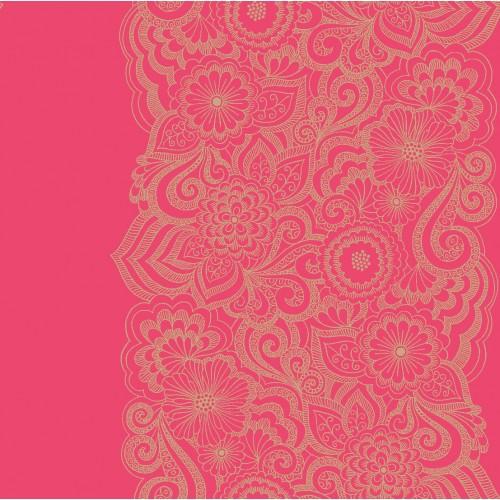 Villa Nova Wallpaper   Florence   Earl Stripe Raspberry W21304 500x500