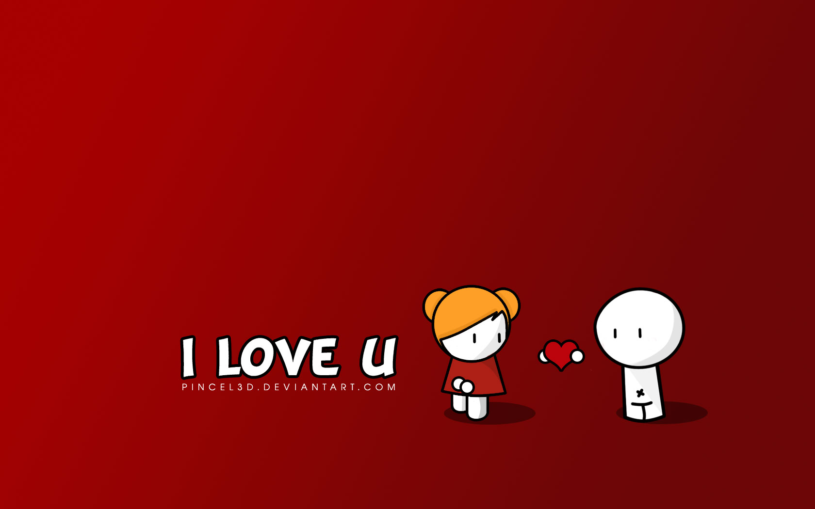 1680x1050 I Love U desktop PC and Mac wallpaper 1680x1050