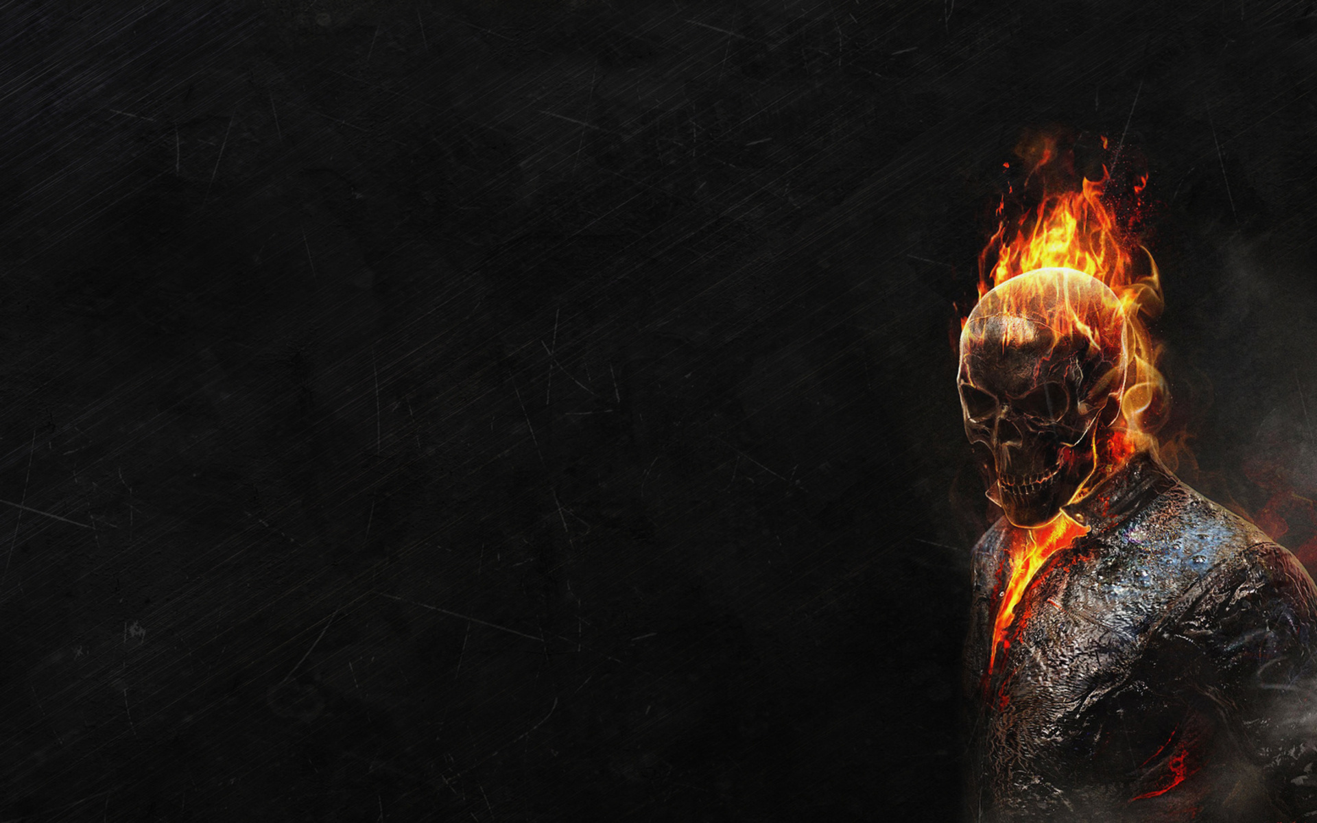 Ghost Rider HD Wallpapers Black background scary face 1920x1200