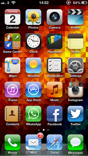 iPhone 5 home screen Flickr   Photo Sharing 282x500
