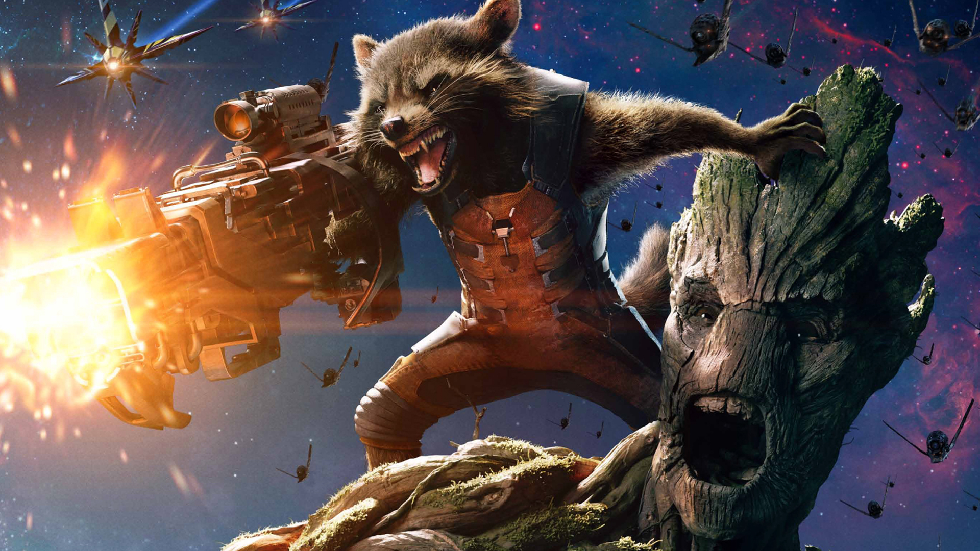 Star Lord And Rocket Raccoon By Timothygreenii On Deviantart: Groot And Rocket Wallpaper