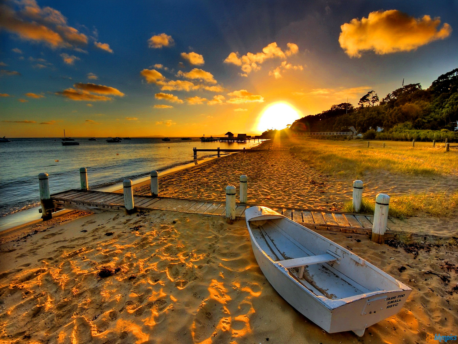 Beach Sunset Wallpaper High Definition 2352 Wallpaper Cool 1920x1440