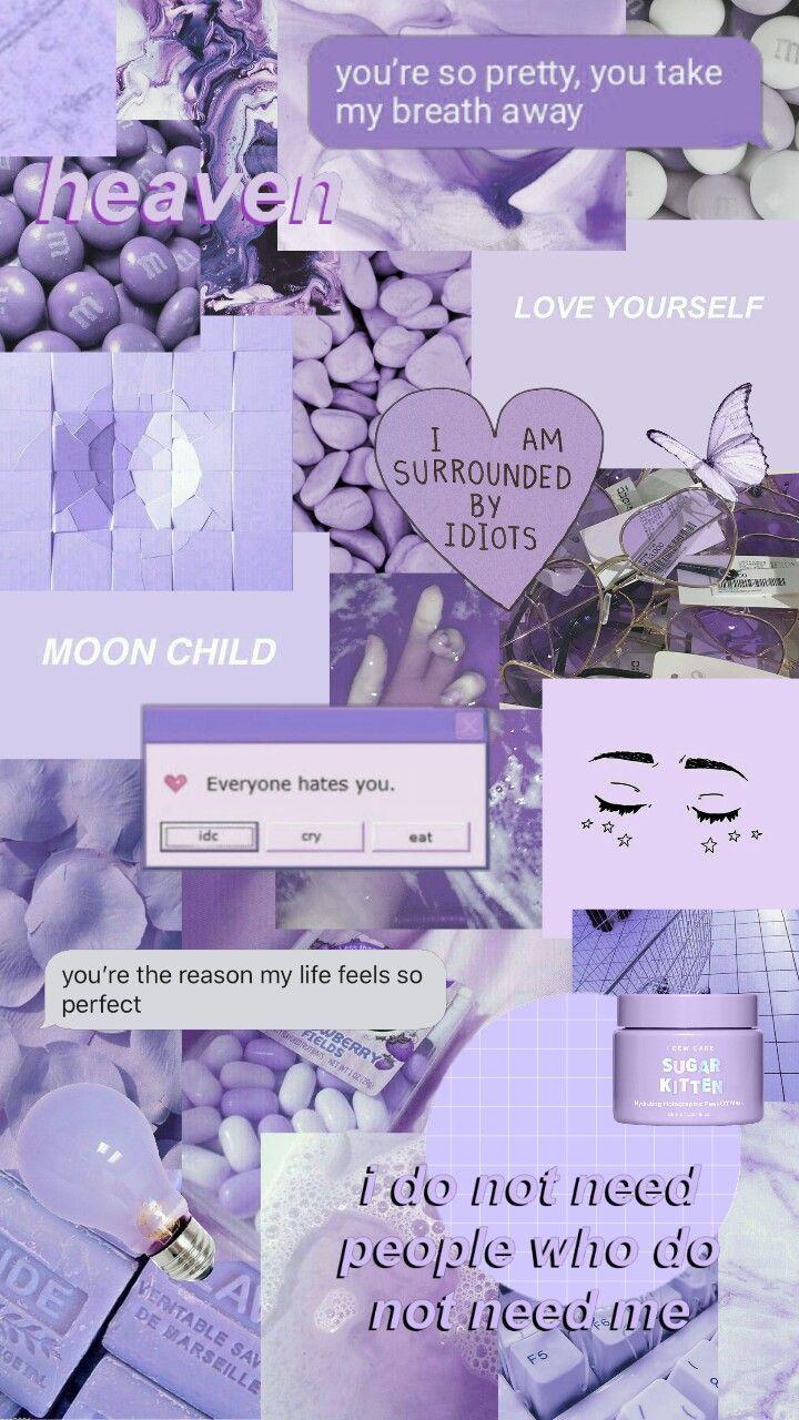lila sthetische Collage Tapeten purple aesthetic freestyle 720x1280