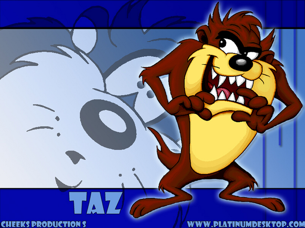 My Wallpapers   Cartoons Wallpaper Taz 1024x768