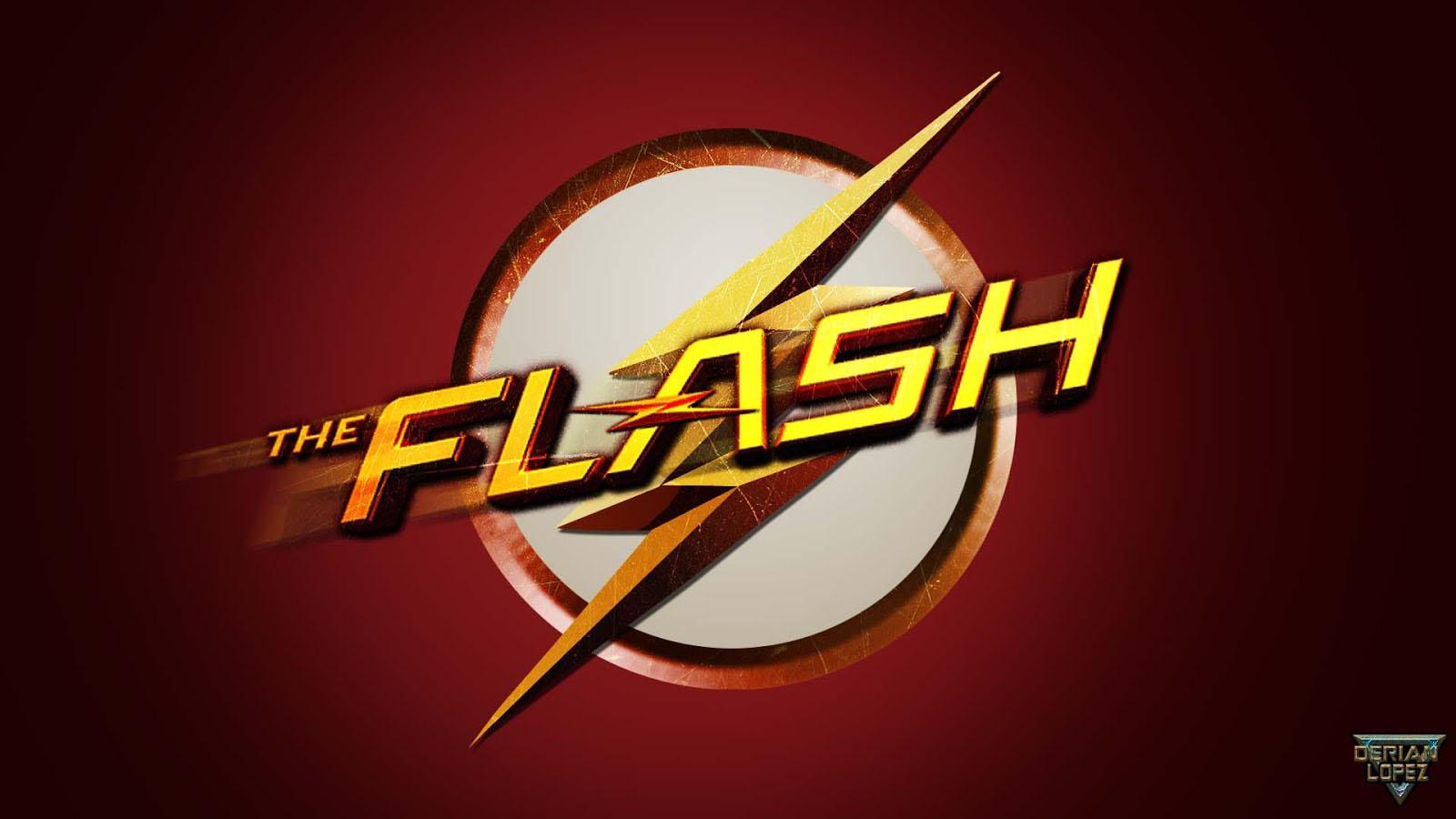 The Flash logo wallpaper 1600x900