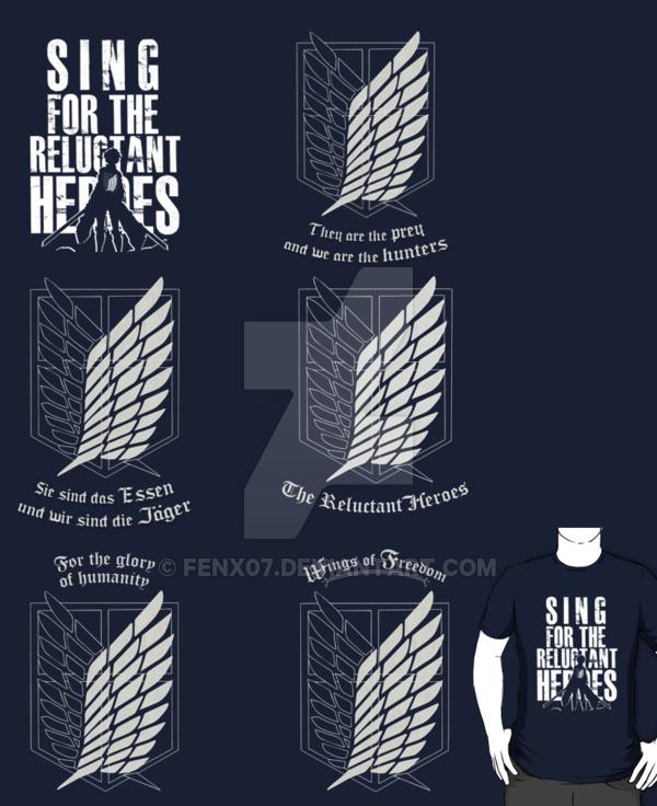 Shingeki no Kyojin   Scouting Legion t shirts by Fenx07 600x736