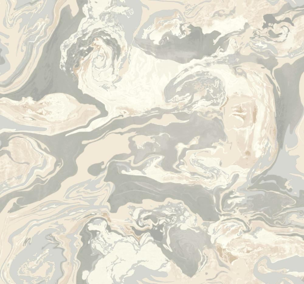 Medici Marble Wallpaper in Beiges from the Dwell Studio Collection 1000x935