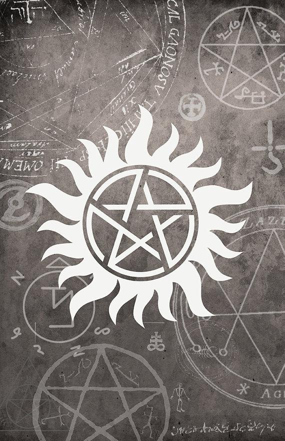Supernatural Symbols Supernatural Tattoo Devils Trap 570x881